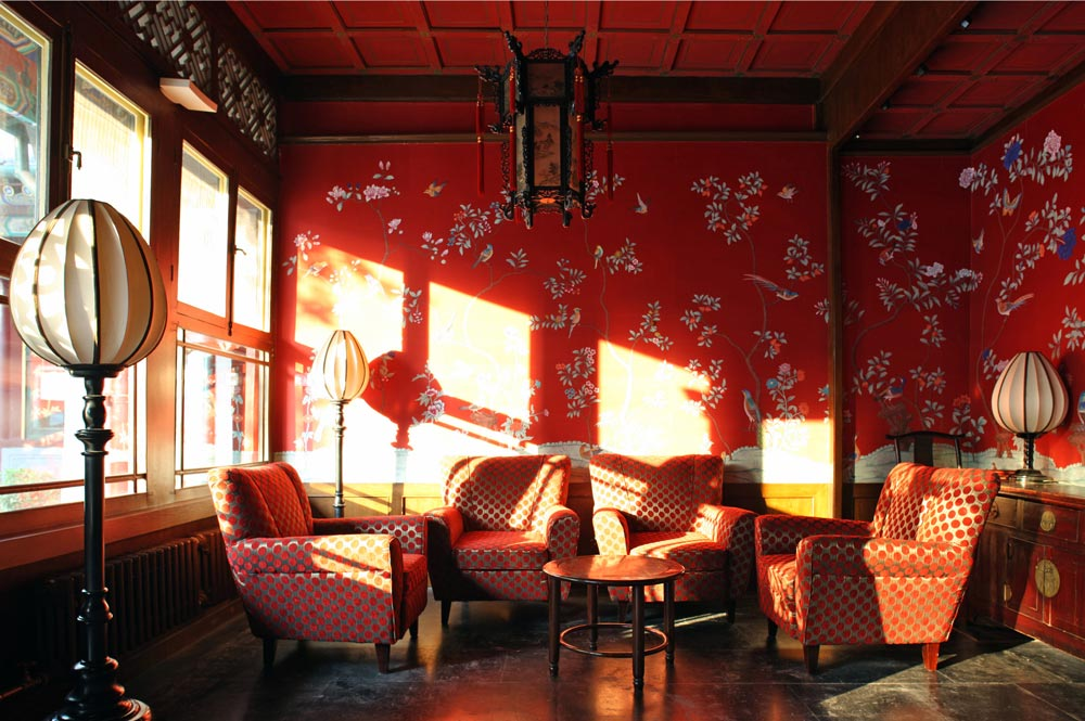 China club hong kong projects fromental for Chinese style wallpaper uk