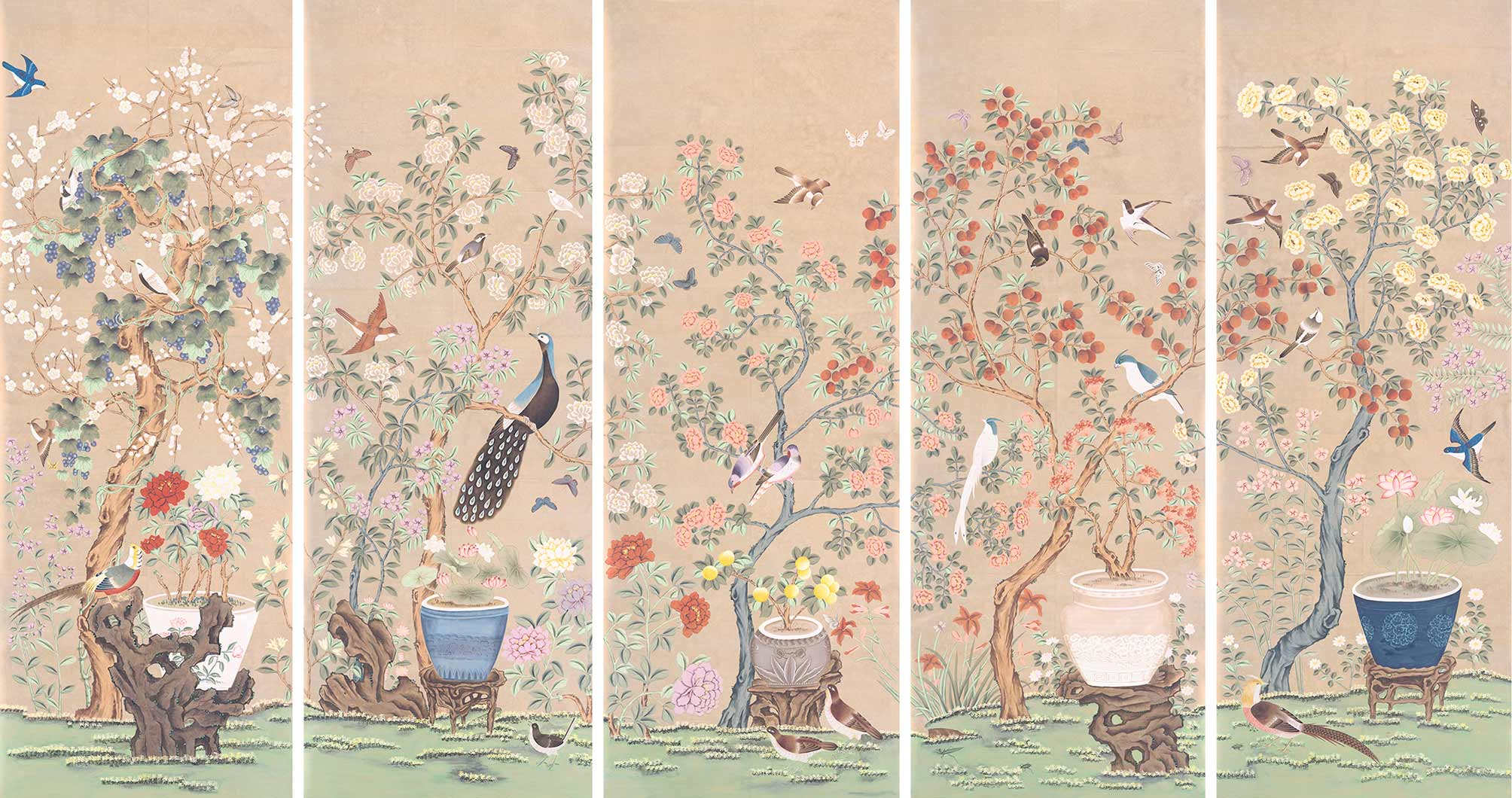 Indienne handmade wallpaper 1787 fromental for Architecture indienne