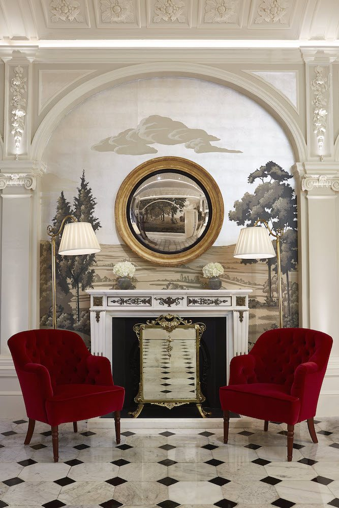 The Goring_refurbished Front Hall_Fireplace_March 2015_low