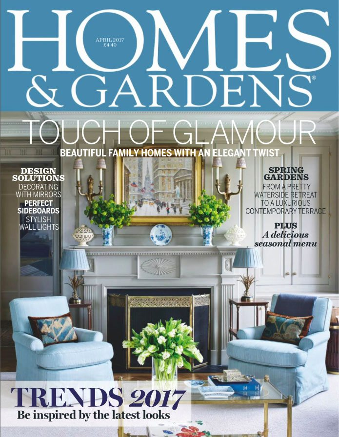 Homes gardens april cover